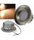 "LED-Einbauleuchte ""Flat-40 FR"" 2900K Edelstahl"