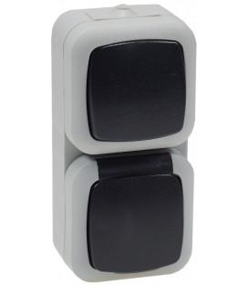 Feuchtraum Kombi-Schalter/Steckdose IP44 Bild 1