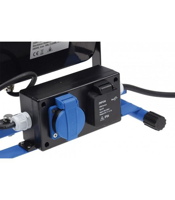 LED Baustrahler 30W mit Steckdose+USB Bild 3 Vorschau