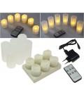LED Kerzen mit IR-Fernbedienung 6er-Set