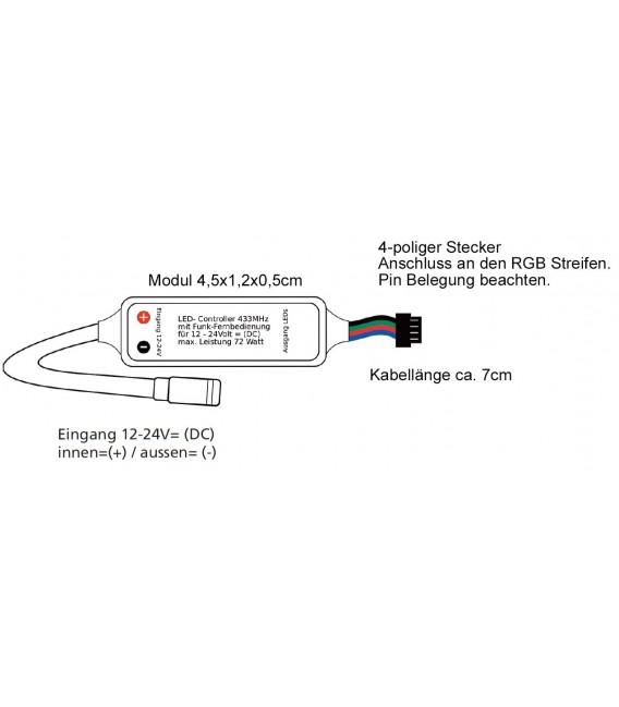 RGB LED-Stripe Controller Funk Bild 2