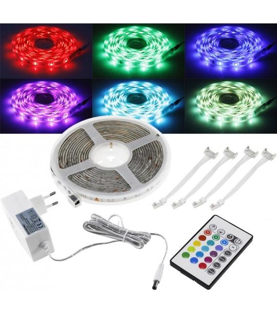 RGB LED-Stripe Set 5m + Mini Controller Bild 1 Vorschau