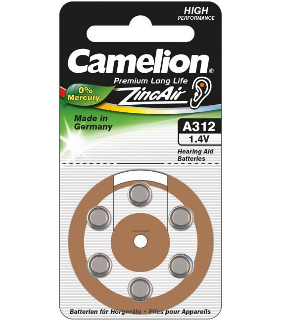 Hörgeräte-Batterie CAMELION A312 Bild 1