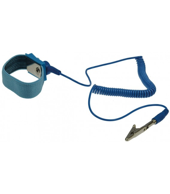Antistatik-Armband mit Spiralkabel Bild 1