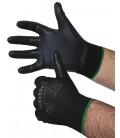 Nylon Feinstrick-Handschuhe mit Nitril Gr. 10