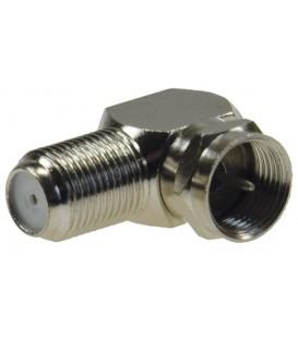 F-Winkelstecker für Koaxkabel mit 7mm Ø Bild 1