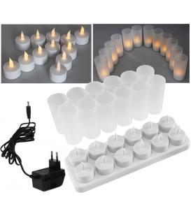 LED Teelichter 12er Set mit Windschutz Bild 1