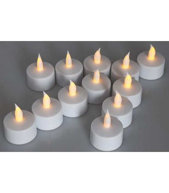 LED Teelichter 12er Set mit Windschutz Bild 4