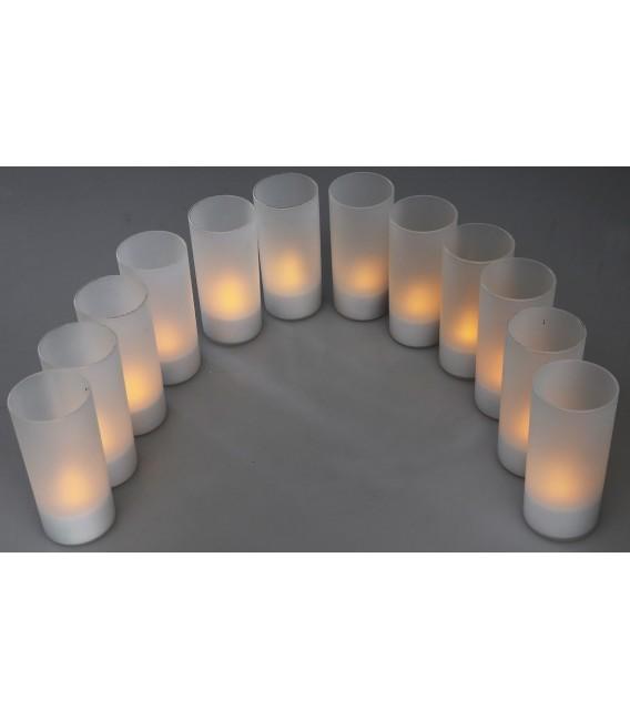 LED Teelichter 12er Set mit Windschutz Bild 5