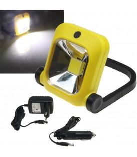 LED Baustrahler mit Akku 1x 20W LED Bild 1