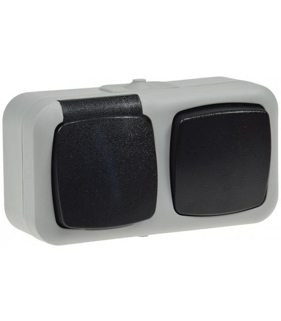 Feuchtraum Kombi-Schalter/Steckdose IP44 Bild 2
