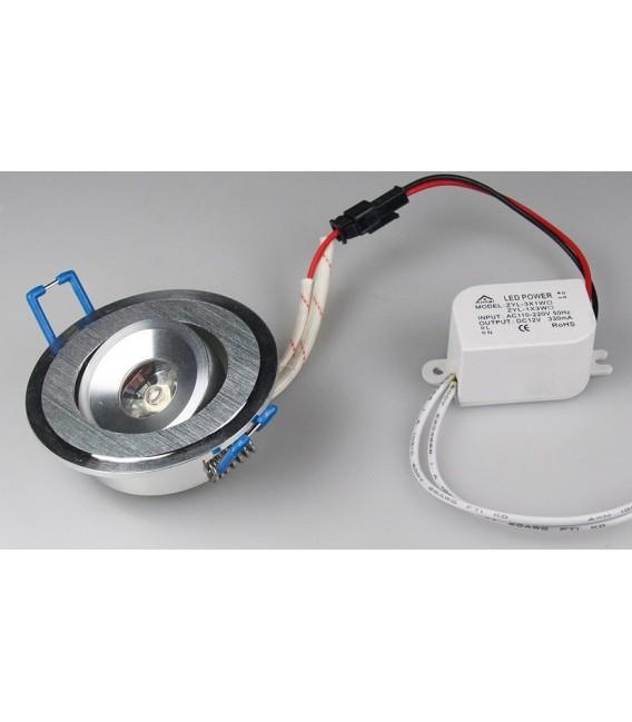 """LED-Einbauleuchte """"RD-1"""" 1W 80lm Bild 1"""