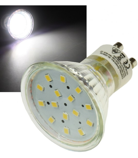 "LED Strahler GU10 ""H10 SMD"" 15 SMD LEDs Bild 1"