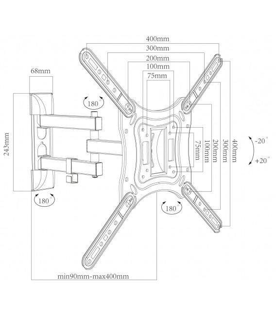 """TV-Wandhalter """"CT-17+"""" VESA kompatibel Bild 2"""