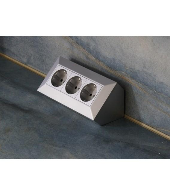 3-fach Steckdosenblock silber Bild 3 Vorschau
