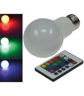 LED Glühlampe E27 RGBW mit Fernbedienung Bild 1