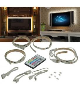 RGB Stripe TV-Hintergrundbeleuchtungsset Bild 1